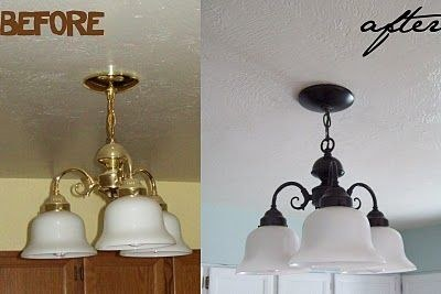 Make any cheap-looking brass fixtures look like oil rubbed bronze.