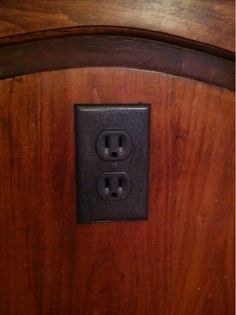 Rustoleum makes your outlets look less plastic-y.