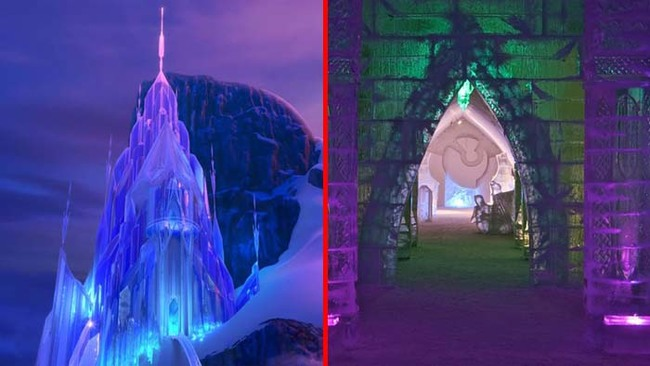 4.) Elsa's palace in Frozen was based on the Hotel de Glace in Cananda.