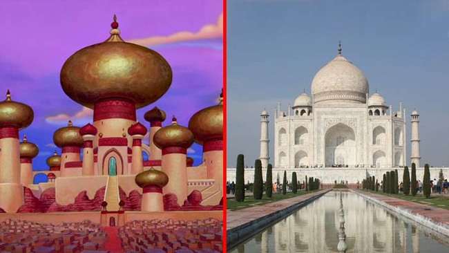 16.) The Sultan's palace from Aladdin was based on the Taj Mahal.
