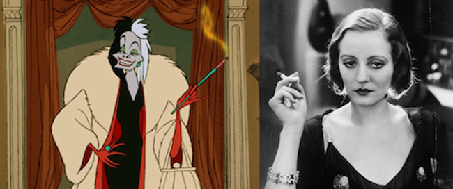 24.) Cruella De Vil from 101 Dalmatians was based on Tallulah Bankhead.