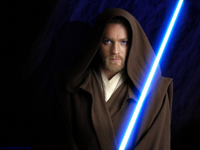 "George Lucas repeatedly informed Ewan McGregor that he didn't need to make the lightsaber noise while filming Star Wars: Episode I, but Ewan <a href=""http://www.imdb.com/name/nm0000191/bio"">continued to imitate it</a> throughout the shoot. His excuse? ""I keep getting carried away."""