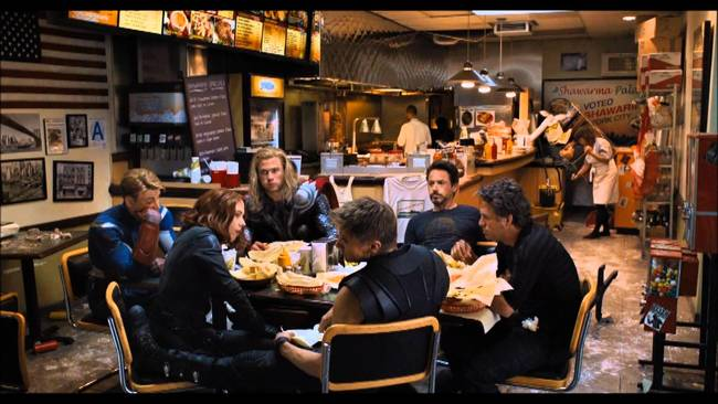 "The button at the end of the Avengers showing the heroes eating shawarma actually sent US shawarma sales <a href=""http://eatocracy.cnn.com/2012/05/18/the-lunch-of-heroes-the-avengers-sparks-interest-in-shawarma/?hpt=ea_bn2"">through the roof.</a> It was obviously not their intention."