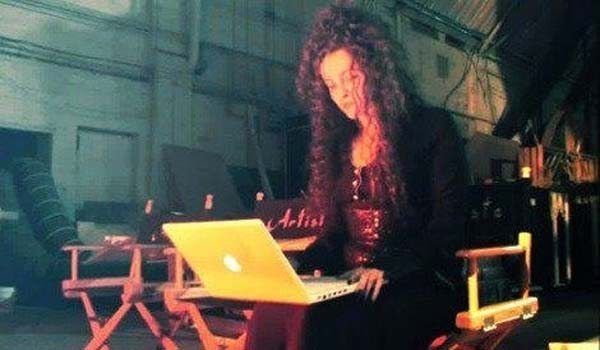 8.) Even Bellatrix Lestrange has to check her email.