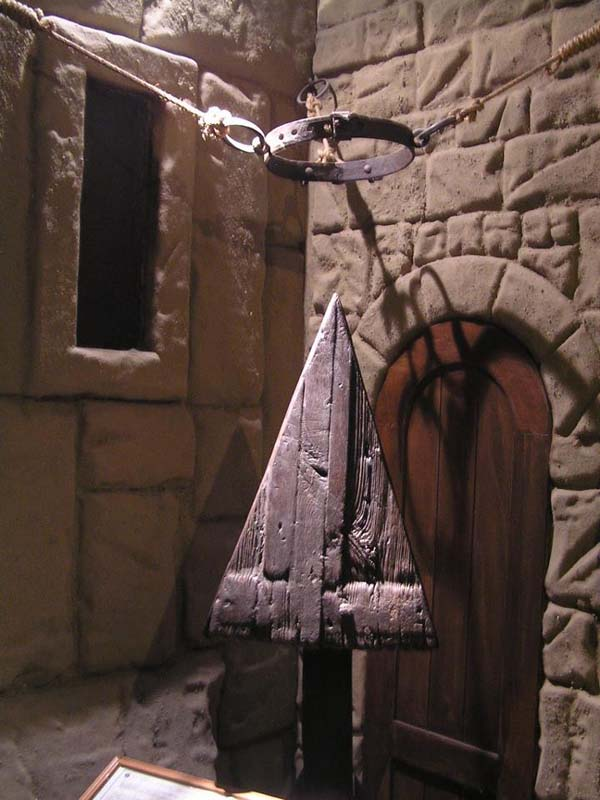 1.) The Judas Cradle: This torture could last days or hours. A victim would sit on this pyramid-shaped seat, with their legs tied together. If they moved one leg, the other would move as well, causing even more pain.