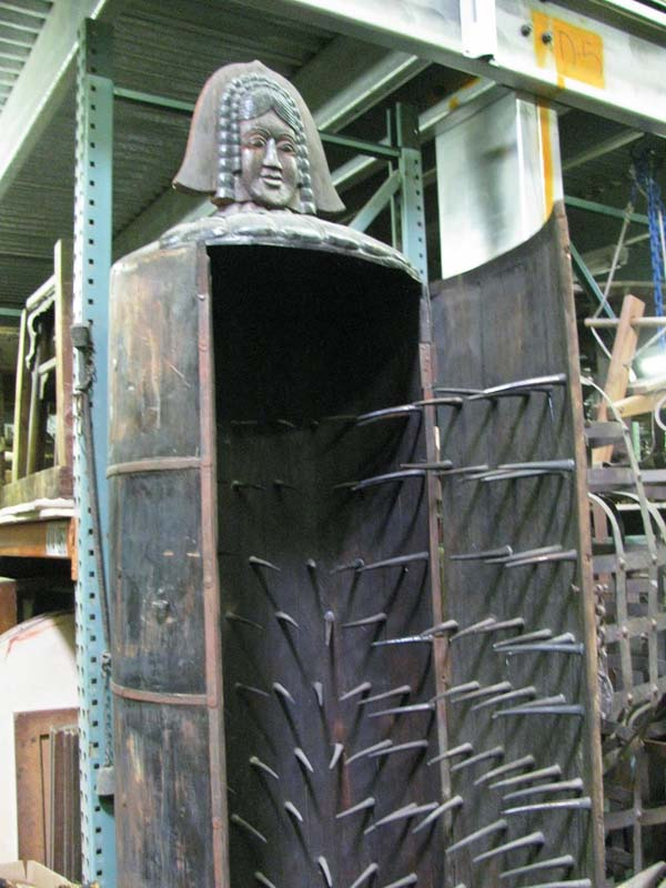 12.) The Iron Maiden: Some dispute the legitimacy of this torture device, but if it was real, a victim would be tied inside this container and the doors were shut. The spikes wouldn't penetrate any vital organs so it could take hours or days for death to occur.