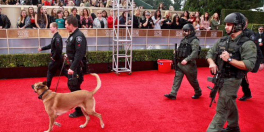 Anti-gun celebrities get armed guards at the Golden Globes