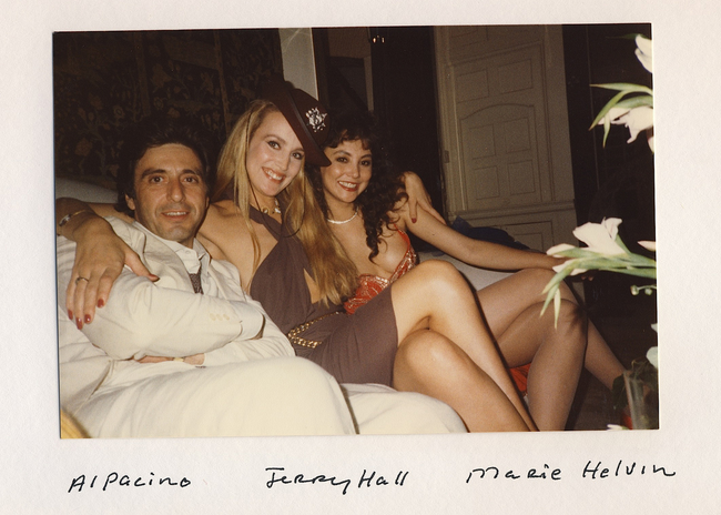 Al Pacino, Jerry Hall, and Marie Helvin