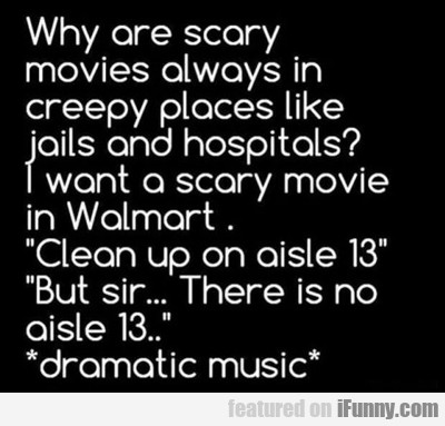 Why Are Scary Movies Always In…