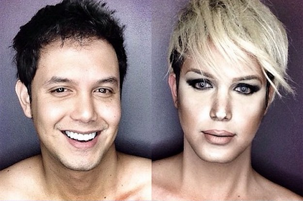 This Guy Has Been Instagramming Himself Made Up Like Female Celebrities