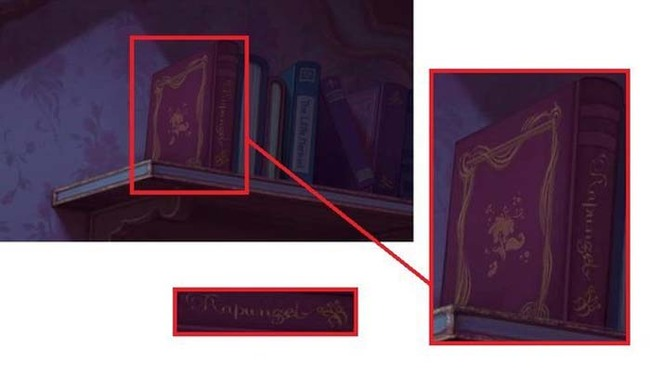 8.) A copy of the book Rapunzel is in Charlotte's room in The Princess and the Frog.