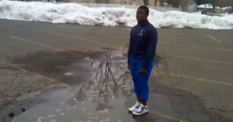 This Guy Jumps In A Puddle Only To Find Out That It's Definitely Not A Puddle