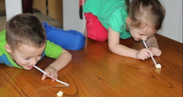 24.) Let your kids compete in a Popcorn Olympics!