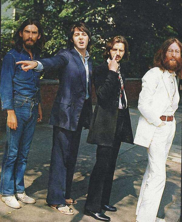 3.) The Beatles before their iconic Abbey Road shot.