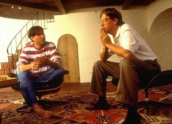 25.) Steve Jobs and Bill Gates.