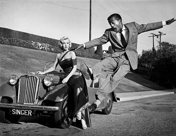 27.) Marilyn Monroe and Sammy Davis, Jr.