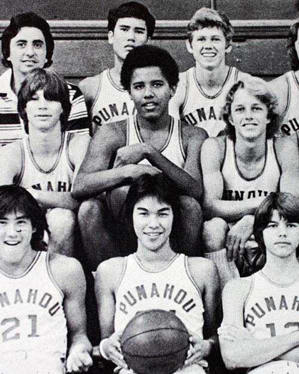 43.) Barack Obama as a teenager.