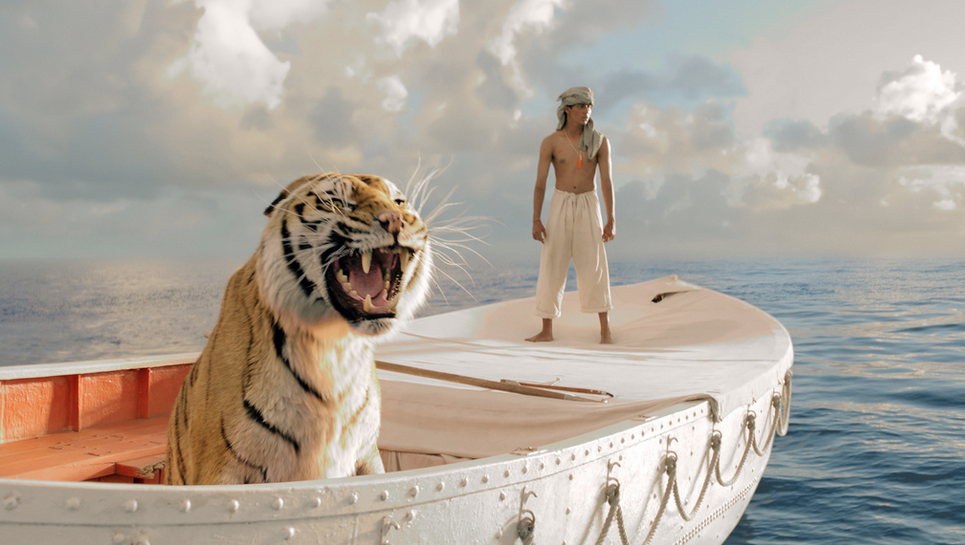 In Life of Pi, the actor wasn't anywhere near a tiger.
