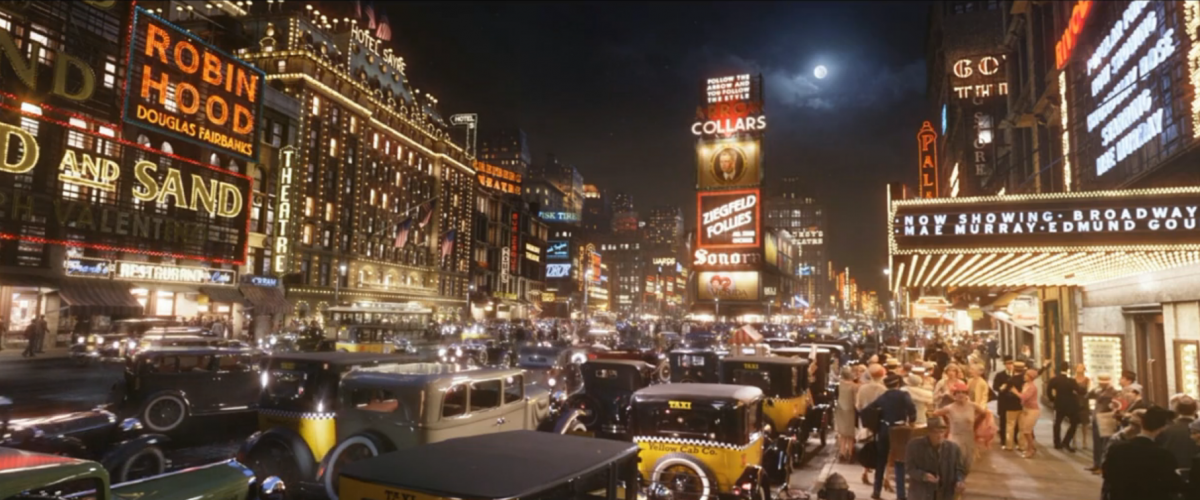 Scenes of vintage New York City looked too good to be true in The Great Gatsby.