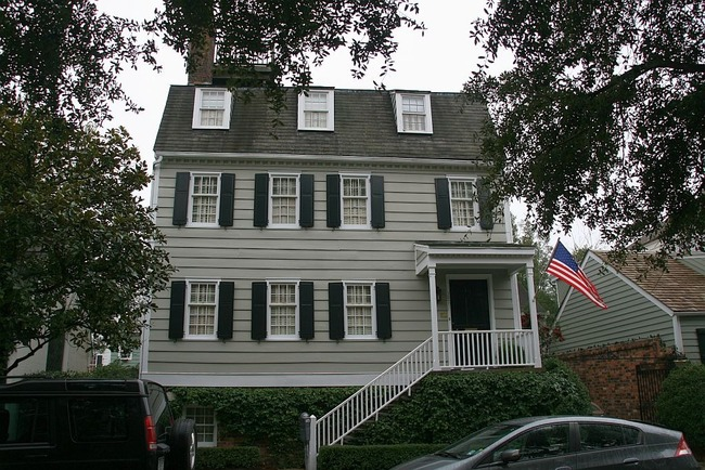The Hampton Lillibridge house in Savannah has had plenty of paranormal incidents, including apparitions of men in bathrobes and children's voices whispering in the walls. The owners say that they've recently painted the house a 'faint blue' because that particular shade of blue wards off 'spirits'. If that's good enough for you, this house is available for just $2,800,000.