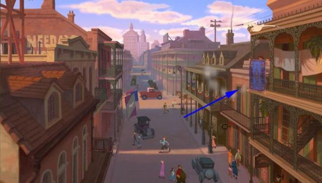 The Princess and the Frog - that's Aladdin's magic carpet in the opening scene.