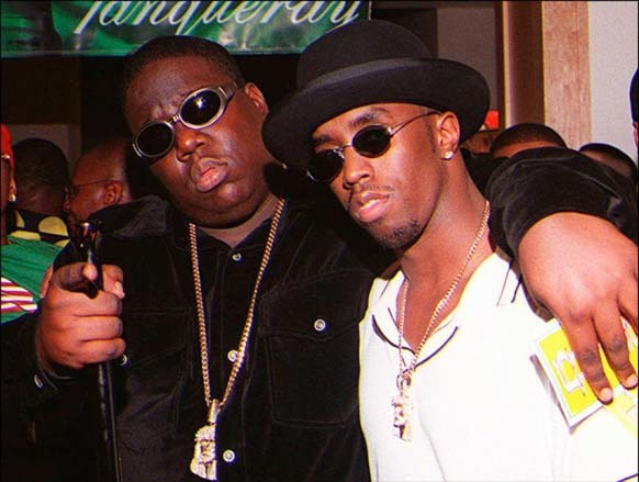 """15.) Biggie Smalls appears in a photo with Sean """"P. Diddy"""" Combs, right before his death after the Soul Train Music Awards."""