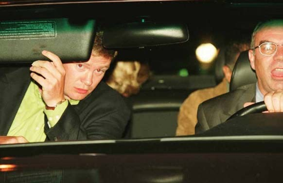 22.) Princess Diana is in the back seat here, looking back at the paparazzi. Seconds after this picture was taken, the Mercedes she was in crashed.