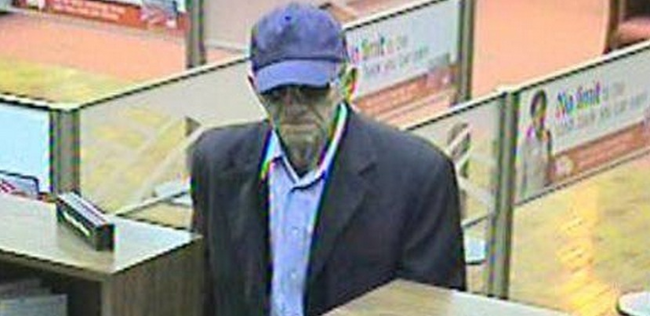 1.) This old man who is suspected for 16 robberies across California may not be what he seems. Authorities believe that 'The Geezer Bandit' is actually a younger man in disguise, as evidence by how fast he flees the scene on foot. The FBI has put a $20,000 on the shapeshifting trickster's head.