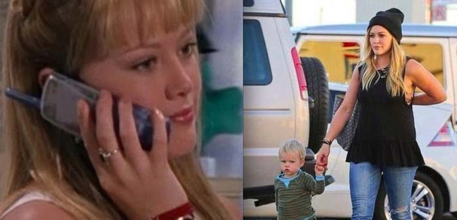 "10.) Hilary Duff  from ""Lizzie McGuire."""