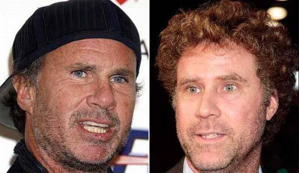 3.) Chad Smith (Red Hot Chili Peppers) & Will Ferrell