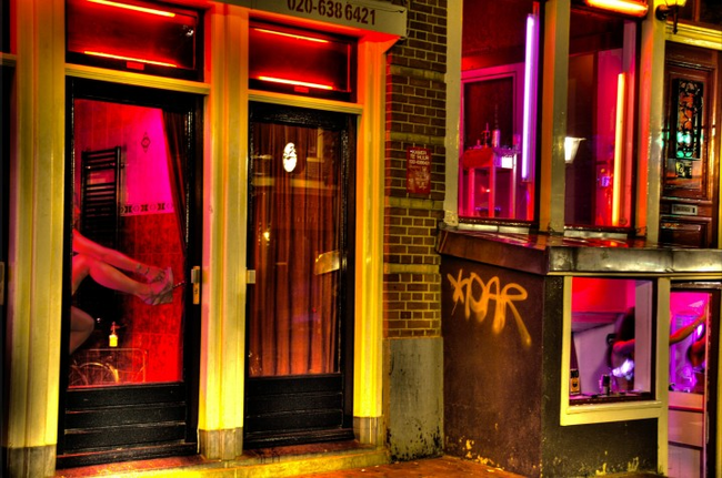 7.) Amsterdam Red Light District, Netherlands