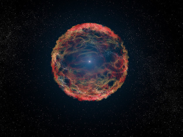 7.) There's a star trapped in the glare of a supernova for the past 21 years. Given that the supernova is 11 million light years away though, it's pretty old news.