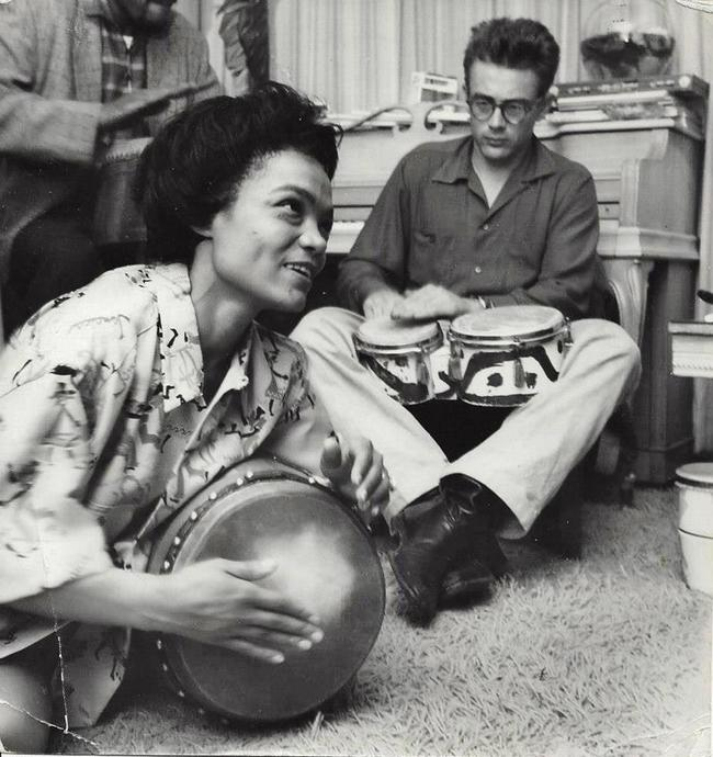 2. Eartha Kitt and James Dean