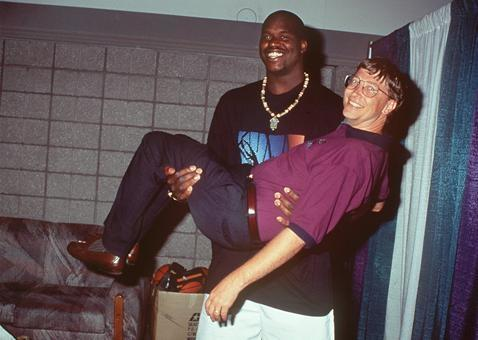 5. Shaquille O'Neal and Bill Gates