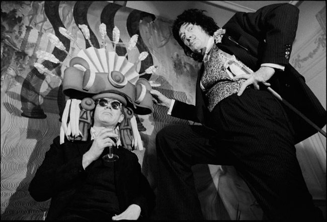 33. Andy Warhol and Salvador Dalí
