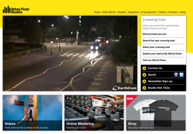 5.) Abbey Road Webcam: People holding up traffic imitating the Beatles. (Awesome...NOT.)